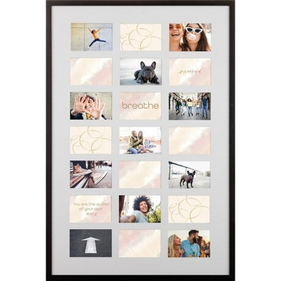 """28"""" x 40"""" Matted to 4"""" x 6"""" Collage Picture Frame - Gallery Solutions"""