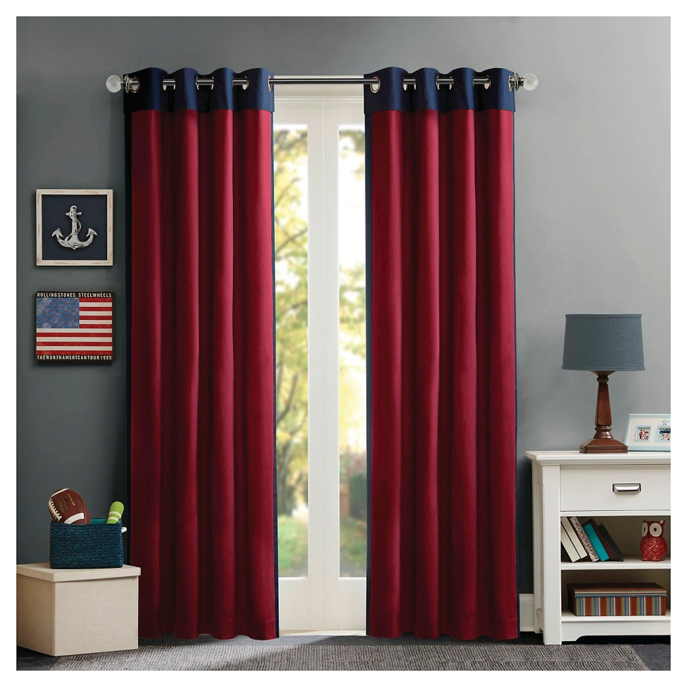 Noah Energy Saving Curtain Panel Red/Blue 50