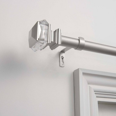 """Exclusive Home Marquise 1"""" Curtain Rod and Coordinating Finial Set"""