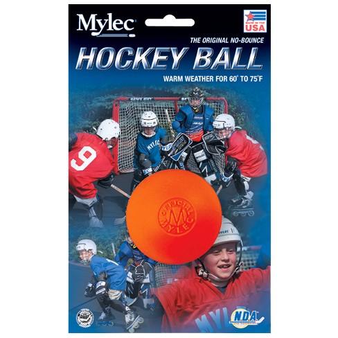Blue Sports Hockey Hard Orange Ball