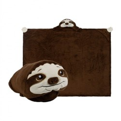 Comfy Critters Hooded Blanket - Speedy Sloth