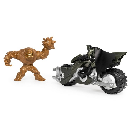 """Batman Batcycle Vehicle with Exclusive Batman and Clayface 4"""" Action Figures image number null"""