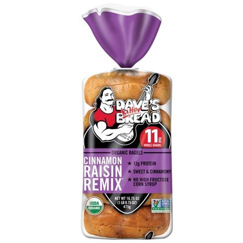 Dave's Killer Bread Organic Cinnamon Raisin Remix Bagels - 16.75oz - image 1 of 4