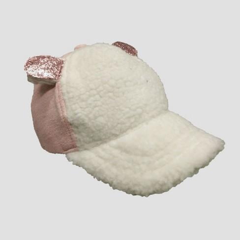 b41e432775b Toddler Girls  Sherpa Baseball Hat With Glitter Ears - Cat   Jack™ Pink White  2T-5T   Target