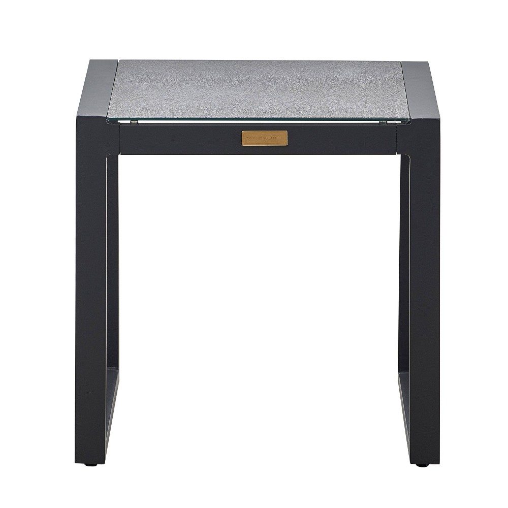 Image of Hampton Pebbled Glass Outdoor Side Table - Gray - Finch