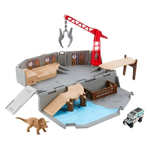 Matchbox Jurassic World Portable Harbor Rescue Playset - image 1 of 14