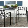 Sardina 2pk Wicker Patio Chair Set - Black/White - Safavieh - image 4 of 4