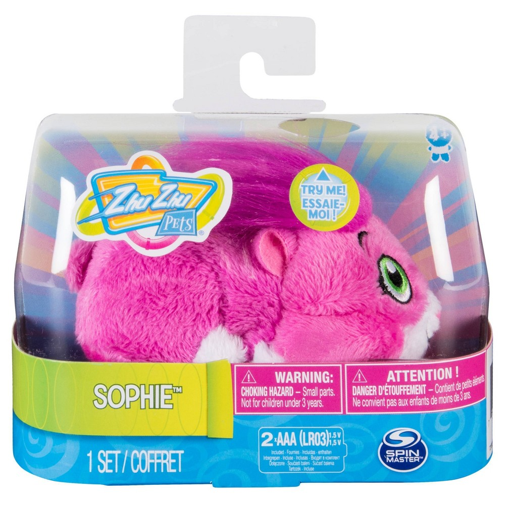 """Zhu Zhu Pets Sophie - Furry 4"""" Hamster Toy with Sounds & Movement"""