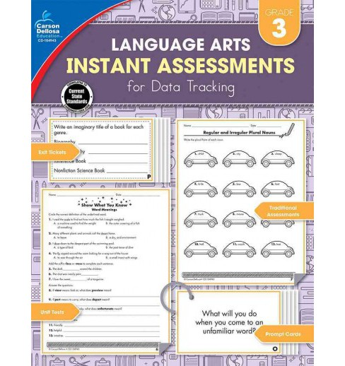 Instant Assessments for Data Tracking, Grade 3 : Language Arts (Paperback) (Amy Payne) - image 1 of 1