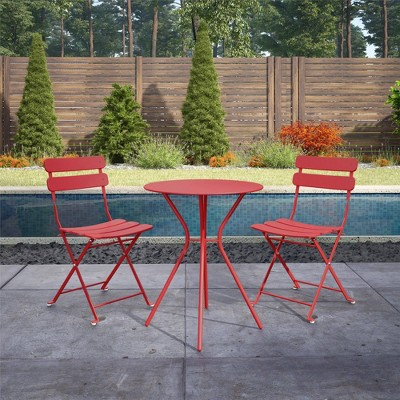 3pc Bistro Set with Folding Chairs  - Room & Joy