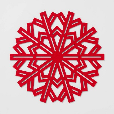 Snowflake Placemat Red - Wondershop™