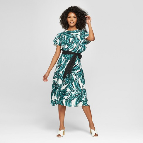 Women S V Back Midi Dress Who What Wear
