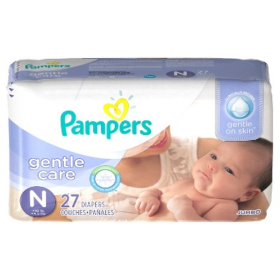 Pampers Gentle Care Diapers, Jumbo Pack - Newborn (27 ct)