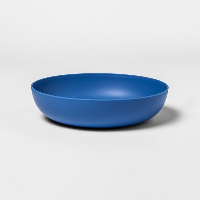 33oz Plastic Dinner Bowl Blue - Room Essentials™