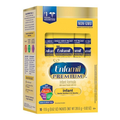 Enfamil 6pk Premium Infant Single-Serve Formula Powder Packets - 0.62oz - image 1 of 2