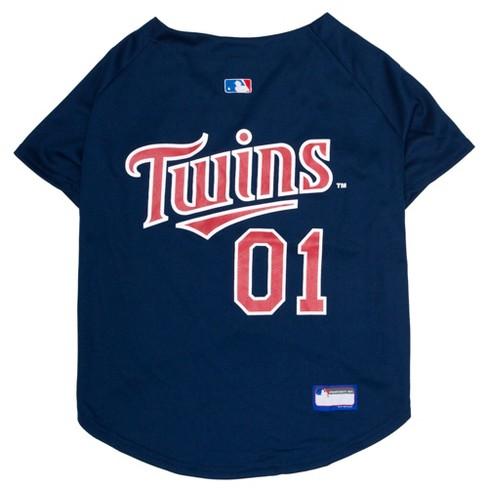 8fcef62dc1a Minnesota Twins Pets First Pet Baseball Jersey - Navy XS   Target