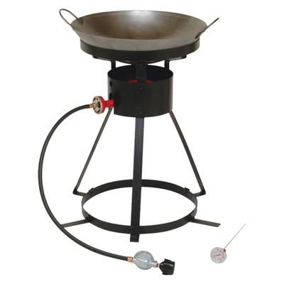 King Kooker® Portable Propane Outdoor Wok Cooker with 18  Steel Wok