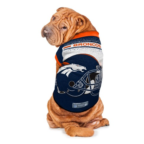 new concept 396ae f78be Denver Broncos Little Earth Pet Performance Football T-Shirt ...