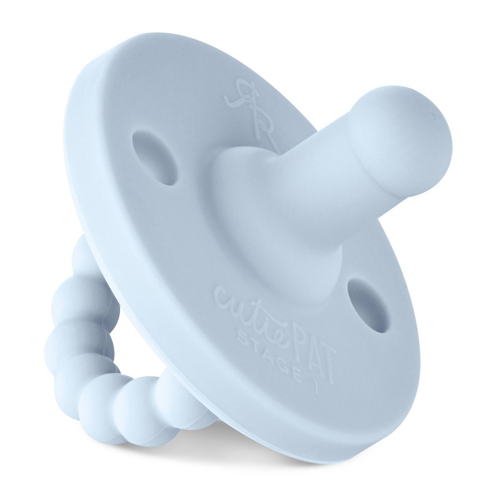 Image of Ryan & Rose Cutie Pat Stage 1 Pacifier - Blue