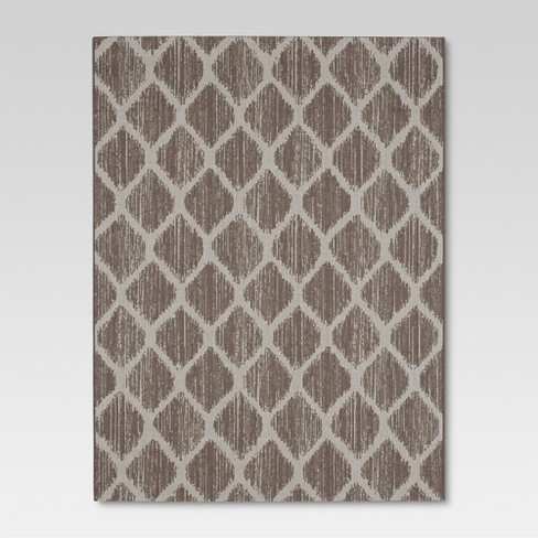 Brushed Diamond Taupe Outdoor Rug - 6'x9' - Threshold™ - image 1 of 4
