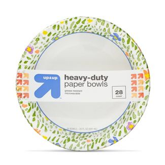 Spring Seasonal Printed Bowls Disposable Dinnerware 28ct - Up&Up™