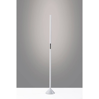 Cole LED Color Changing Wall Washer Floor Lamp (Includes LED Light Bulb) Matte White - Adesso