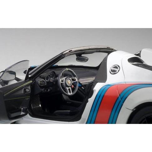 Porsche 918 Spyder Weissach Package White Martini Livery 15 1 18 Model Car By Autoart