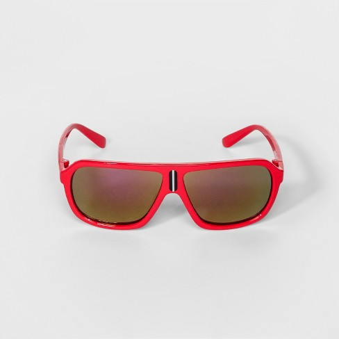 Boys' Sunglasses - Cat & Jack™ Red - image 1 of 1