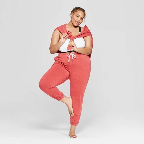 Women's Plus Size Fleece Lounge Jogger Pants - Colsie™ - image 1 of 3