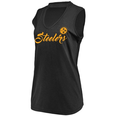 NFL Pittsburgh Steelers Women's Constant Effort Sleeveless T-Shirt - image 1 of 2