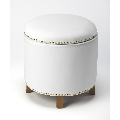 Peachy Yara Velvet Storage Ottoman White Butler Specialty Beatyapartments Chair Design Images Beatyapartmentscom