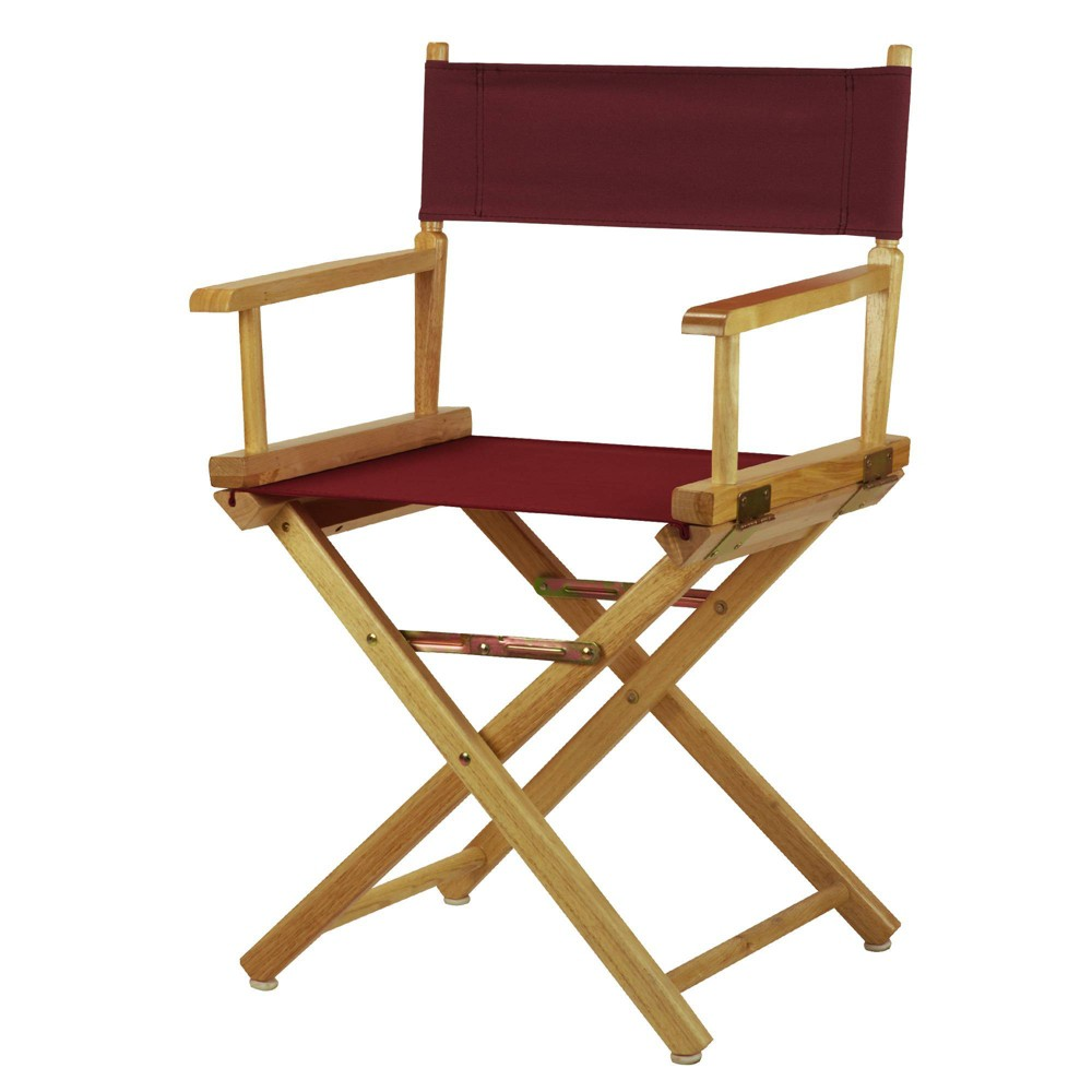 Director S Chair Canvas Burgundy Natural Flora Home