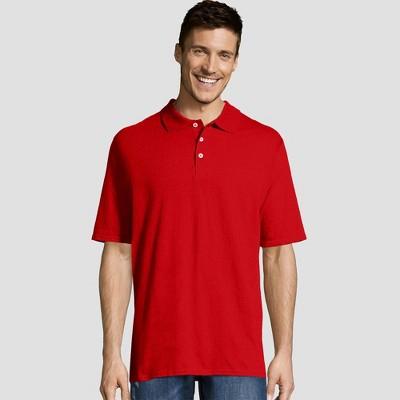 Hanes Men's X-Temp Jersey Polo Short Sleeve Shirt