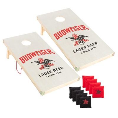 Budweiser Cornhole Toss Game with 8 Bean Bags