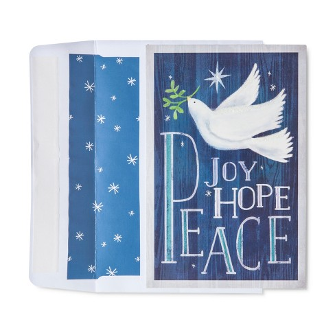 American Greetings 40ct Dove Joy/Hope Peace Holiday Boxed Cards - image 1 of 1
