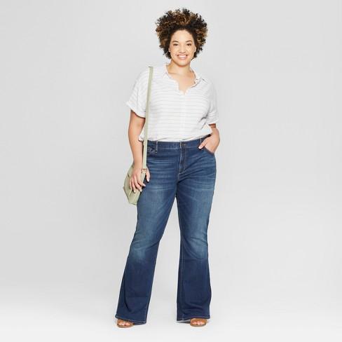 5c3137a7bf201 Women s Plus Size Flare Jeans - Universal Thread™ Dark Wash 20W