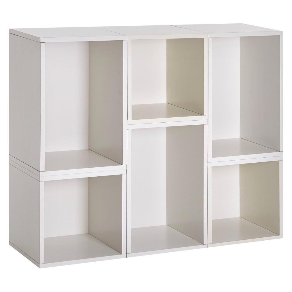 Way Basics Naples Modular Bookcase Shelving - Eco Friendly, Formaldehyde Free White - Lifetime Guarantee