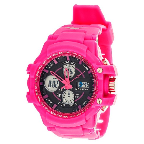 Men's Everlast&#174 Analog and Digital Watch Pink - image 1 of 1