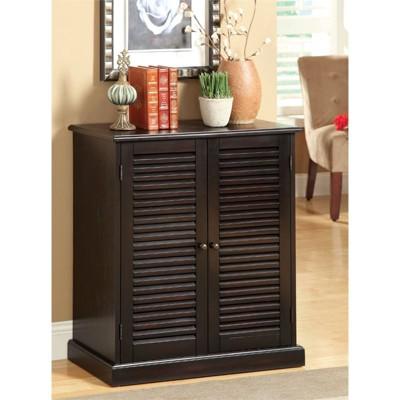 Medley Transitional Wood 5-Shelf Shoe Cabinet in Espresso - Furniture of America