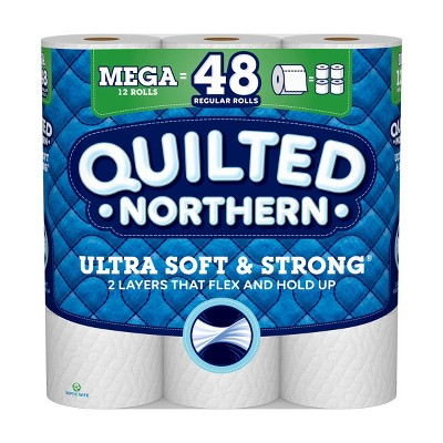 Quilted Northern Ultra Soft & Strong Toilet Paper - 12 Mega Rolls