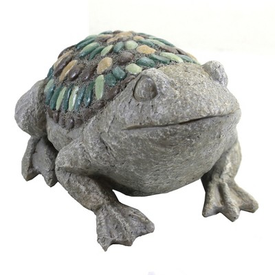 """Home & Garden 6.0"""" Mosaic Pebble Statues Snail Frog Turtle Ganz  -  Outdoor Sculptures And Statues"""