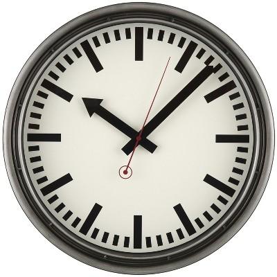13  Industrial Metro Wall Clock Black - Threshold™