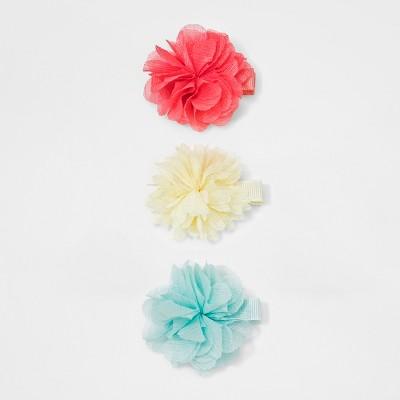 Girls' 3pk Chiffon Flower Salon Clips - Cat & Jack™