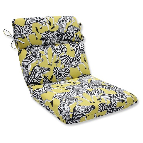 Pillow Perfect Herd Together Wasabi Outdoor One Piece Seat And Back Cushion - Yellow - image 1 of 1