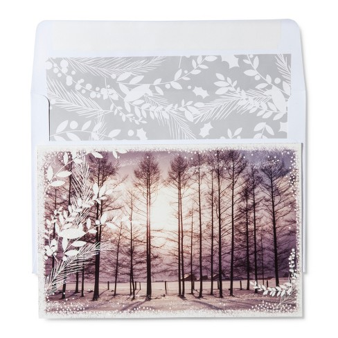 American Greetings 40ct Photo Real Trees Holiday Boxed Cards - image 1 of 1