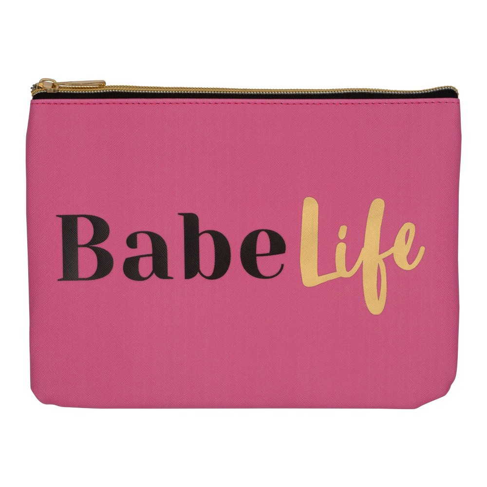 Image of Ruby+Cash Faux Leather Makeup Bag & Organizer - Babe Life