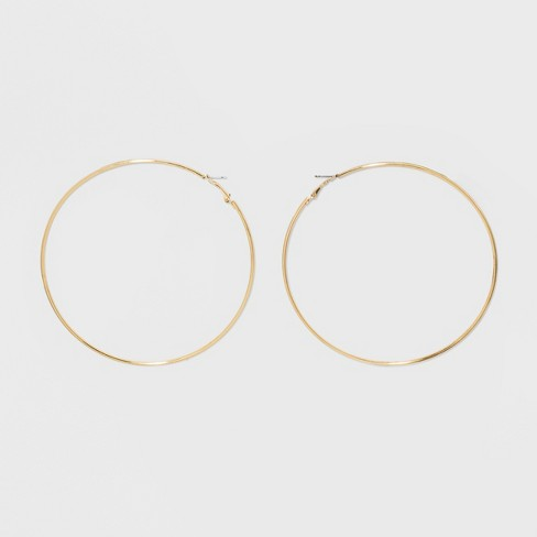Large Hoop Earrings - Wild Fable™ Gold - image 1 of 2