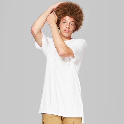 Men s Short Sleeve Long Line T-Shirt - Original Use™ White   Target 0a459b3ad680