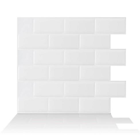 Smart Tiles Subway Tile Wallpaper White Target