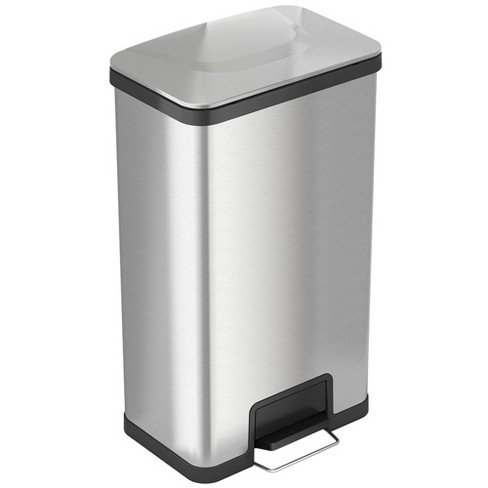iTouchless 18 Gallon Step Garbage Kitchen Trash Can with Built-In Deodorizer